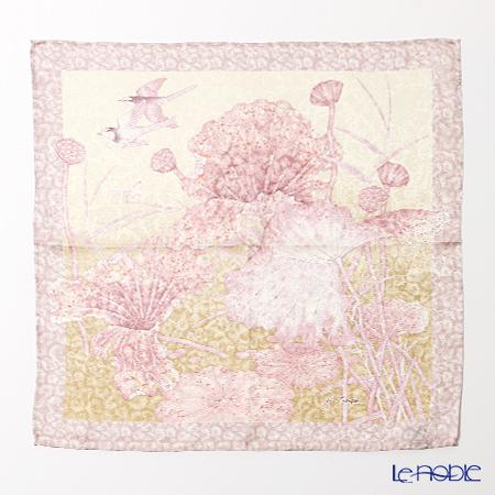 A Jim Thompson silk handkerchiefs (L) 9640 Lotus Bird 2 ivory / pink