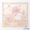 Jim Thompson 'Lotus & Bird' Ivory Pink 9640 Silk Handkerchief 46.5x46.5cm (L)