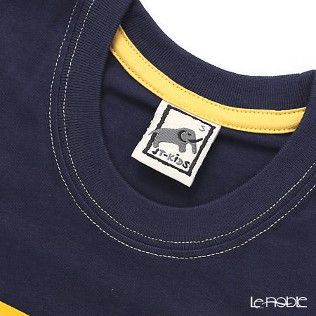 Jim Thompson 'Mini Elephants' Dark Blue Children Cotton T-shirt (M)
