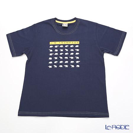 ジムトンプソン 子供服 Tシャツ M(8-11歳) ホワイトゾウ36/ダークブルー