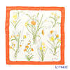 Jim Thompson 'Thai Flower' Orange frame PSB9619B Silk Handkerchief 46.5x46.5cm (L)