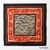 Thompson Cushion cover silk ruffle PSB9654A Parent-child elephants Zebra red / black