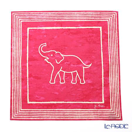 ジムトンプソン コットンハンカチ(L) 2279661Aゾウ ホワイトライン/ピンク