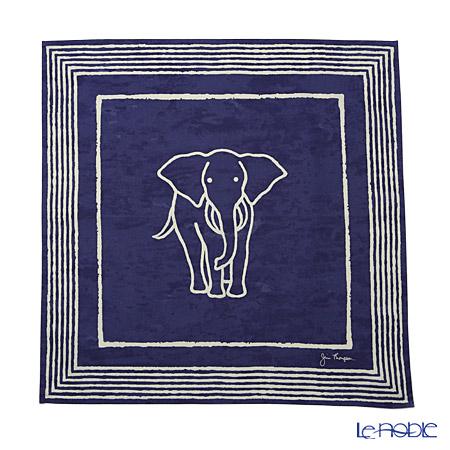 ジムトンプソン コットンハンカチ(L) 2279663Bゾウ ホワイトライン/ブルー