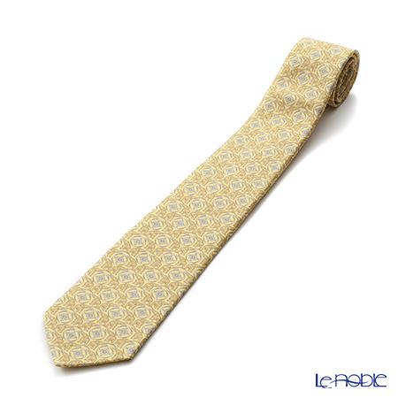 Jim Thompson 'Circle Elephant' Yellow PSB6265L Silk Necktie 140x9cm