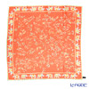 Jim Thompson silk scarf square PSB9494F Zouframe flower Orange