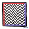 Thompson 'Zig Zag' Black 2889715A Cotton Handkerchief 46.5x46.5cm (L)