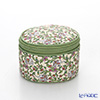 Jim Thompson 'Elephant & Flower Vine' Cream / Green 1135225H Round Case 8x6cm
