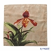 Jim Thompson 'Cattleya Flower' Beige 1160209C Ruffled Silk Cushion Cover 46x46cm
