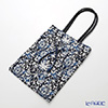Jim Thompson 'Classic Thai Flower' Blue 218000VUT Knot Bag 27x34cm
