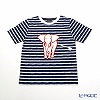Thompson kids clothes T shirt S (4-7 years old) White sow/stripe and dark blue