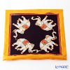 Thompson Cushion cover silk ruffle 1169722B Elephant 4/orange/black