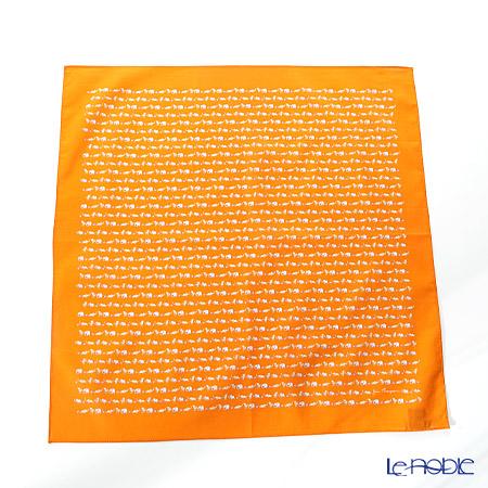 ジムトンプソン コットンハンカチ(L) 2849728D ゾウ サッカー オレンジ