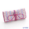 Jim Thompson 'Pink Bellflower & Blue Leaf' White 1136248A Jewelry Pouch 18.5x9.5cm
