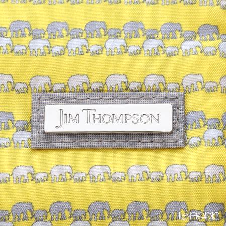 Jim Thompson 'Grey Elephants Line' Yellow 1136250Q Jewelry Pouch 18.5x9.5cm (L)