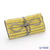 Jim Thompson 'Grey Elephants Line' Yellow 1136250Q Jewelry Pouch 18.5x9.5cm (L)
