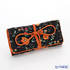 Jim Thompson 'Orange Meadow Flower' Black 1136252 A Jewelry Pouch 18.5x9.5cm