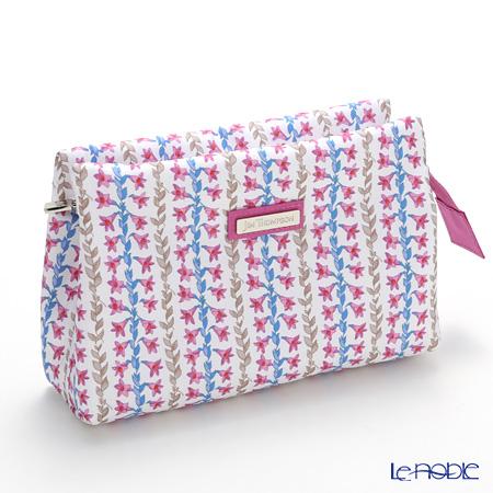 Jim Thompson's Shanghai pouch 1136248A White Pink Bellflower