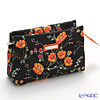 Jim Thompson 'Orange Meadow Flower' Black 1136252A Cosmetic Pouch 18x10cm