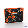Jim Thompson 'Orange Meadow Flower' Black 1136252A Flat Case 11.5x9.5cm