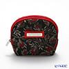 Jim Thompson 'Red Flower Bud' Black 145000LX Coin Purse 9.5x8.5cm