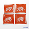 Thompson coasters set of 4 Elephants 1 / orange 9316 / 7701 B