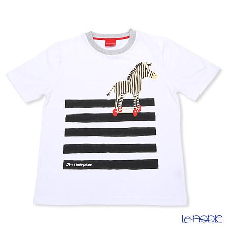 ジムトンプソン 子供服 Tシャツ M(8-11歳) シマウマ/ホワイト