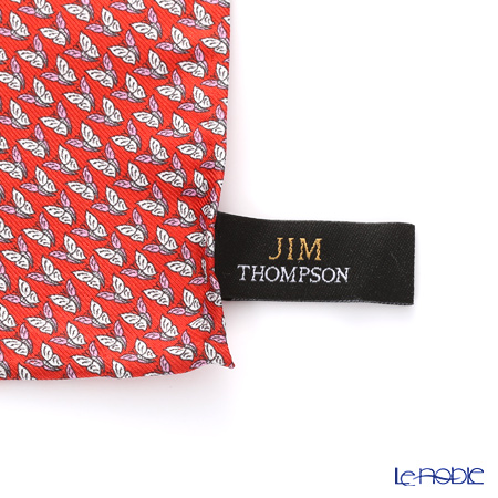 Jim Thompson Silk Pocket Chief, Butterfly, red, PSB6183E