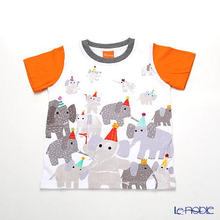 ジムトンプソン 子供服 Tシャツ 3Y(3-4歳)ゾウパーティー/ホワイト