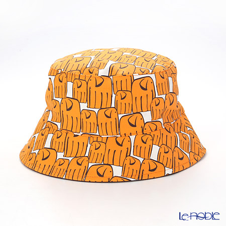 Jim Thompson 'Long Elephant' Orange / Brown PCB6449A Reversible Sun Hat