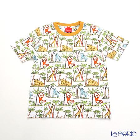 ジムトンプソン 子供服 Tシャツ S(4-7歳)ゾウ/モンキー/チーター/ジラフ
