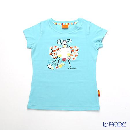 ジムトンプソン 子供服 Tシャツ S(4-7歳) ゾウレインボウ/ターコイズ