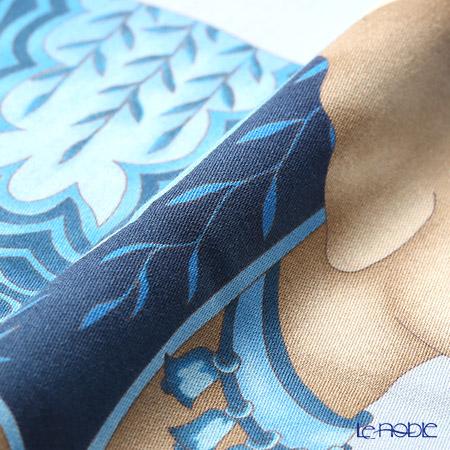ジムトンプソン クッションカバー コットン フリル 7687Bゾウ バルーン トス/ブルー
