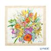 Jim Thompson 'Summer Flower Bouquet' Beige Ruffled Silk Cushion Cover 46x46cm