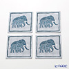 Thompson coaster 4 piece set PCB7661A Saw Indigo child.