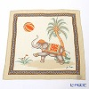 Jim Thompson 'Elephant Kicking Balloon' Ivory Orange PSB7686A Silk Handkerchief 46.5x46.5cm (L)