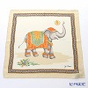 Jim Thompson 'Elephant Balloon Toss' Ivory Orange PSB7687A Silk Handkerchief 46.5x46.5cm (L)