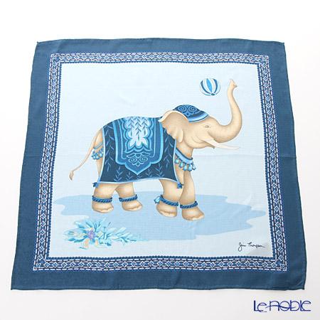 ジムトンプソン シルクハンカチ(L) PSB7687B ゾウ バルーン トス/ブルー