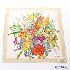 Jim Thompson 'Summer Flower Bouquet' Beige PSB9732A Silk Handkerchief 46.5x46.5cm (L)