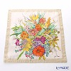 Jim Thompson 'Summer Flower Bouquet' Beige 9732A Ruffled Silk Cushion Cover 46x46cm