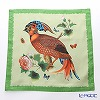 Jim Thompson 'Tropical Bird & Butterfly' Green 0258B Ruffled Silk Cushion Cover 46x46cm
