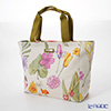 Jim Thompson 'Pink Purple Orange Flower' White PCB6391A Fiji Tote Bag 32x27.5cm