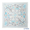 Jim Thompson 'Flower Gate' Sky Blue / Grey PSB8993D Silk Square Scarf 82x82cm