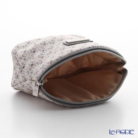 Jim Thompson 'Mini Elephant & Butterfly' Grey 1135521C Cosmetic Pouch 14x10cm (S)