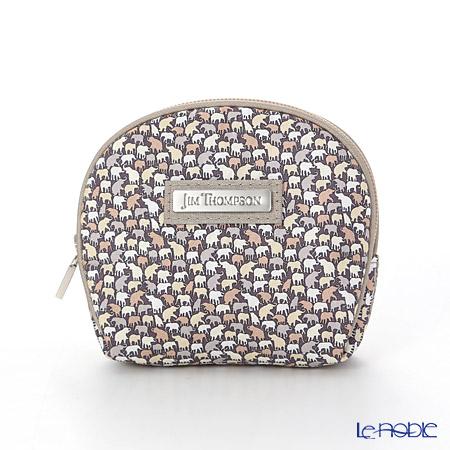 Jim Thompson's coin purse 1136360C Elephant drop beige / Brown