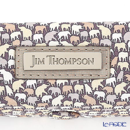 Jim Thompson 'Elephant Drop' Grey 1136360C Lipstick Case 8.5x2.5cm