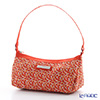 Jim Thompson 'Elephant Drop' Orange 1136360B Crescent Bag 23x10cm