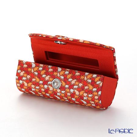 Jim Thompson 'Elephant Drop' Orange 1136360B Lipstick Case 8.5x2.5cm