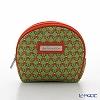 Jim Thompson 'Khonthai' Green & Red 1136438B Coin Purse 9.5x8cm