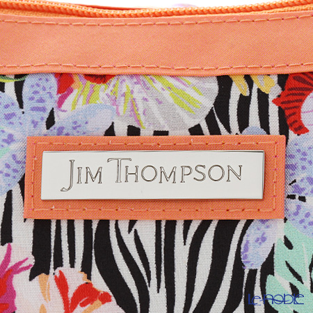 Jim Thompson 'Hibiscus Flower / Zebra' 1136417A Crescent Bag 23x10cm